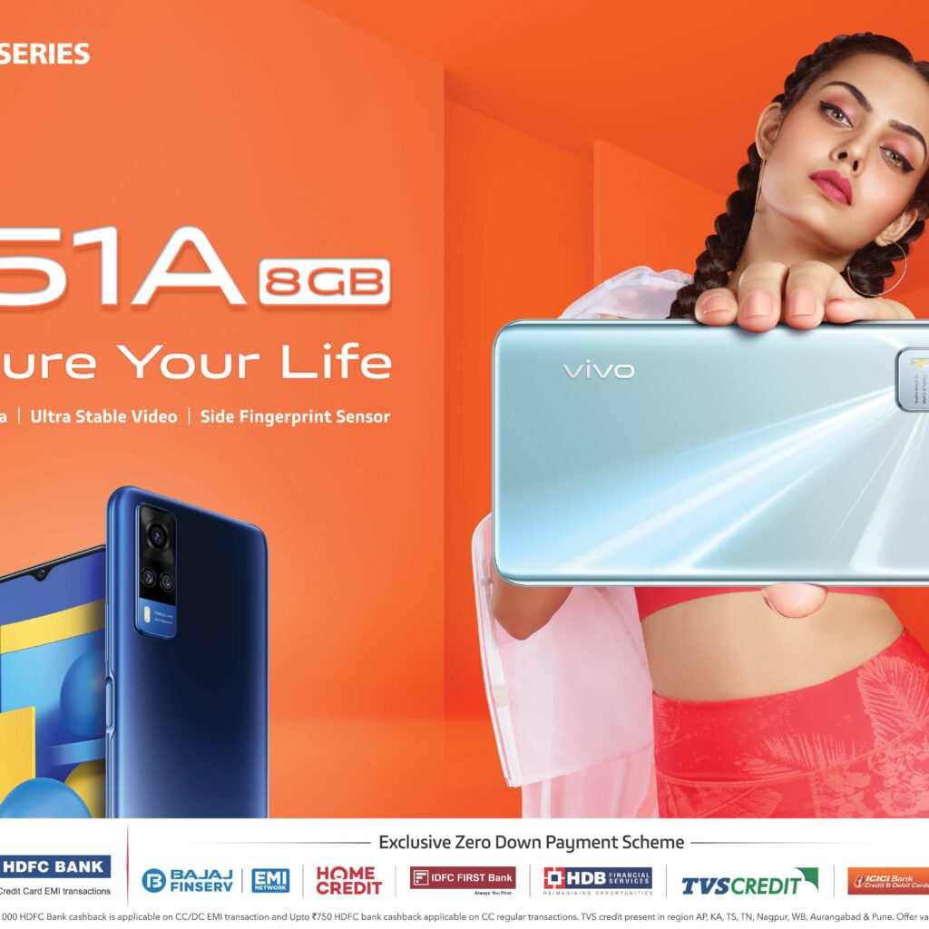 Vivo Launches Y51A in India With 48MP Triple Camera