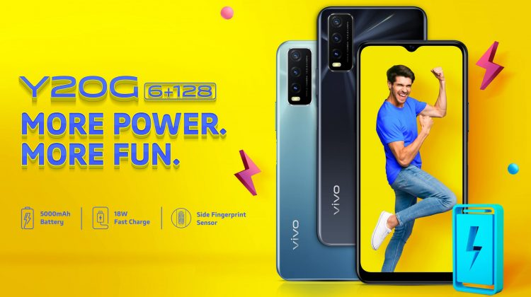 Vivo Y20G launched with G80 Chipset 5000 mAh battery 18W fast charging