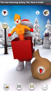 Santa offering Christmas gift with free android app