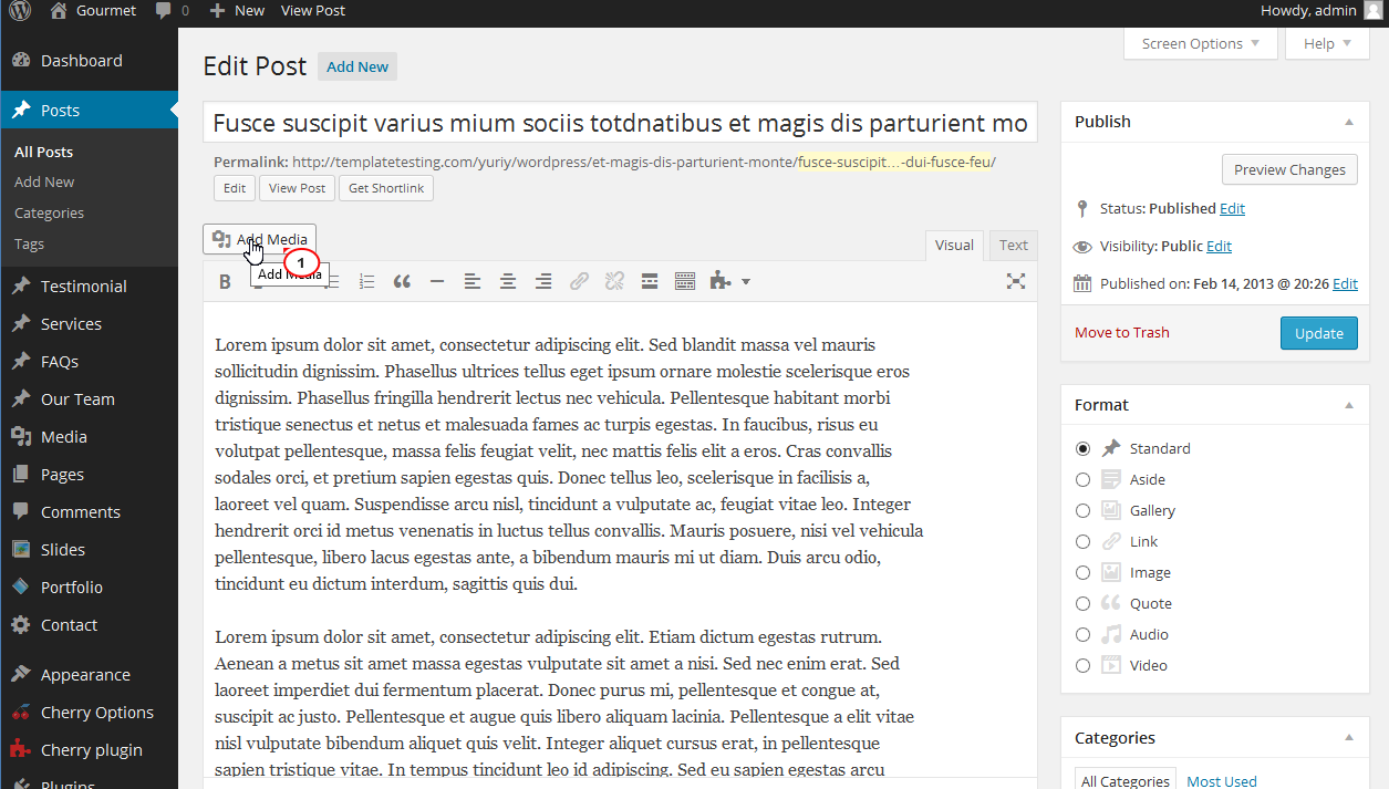 Wordpress Featured Image Caption Not Showing 1