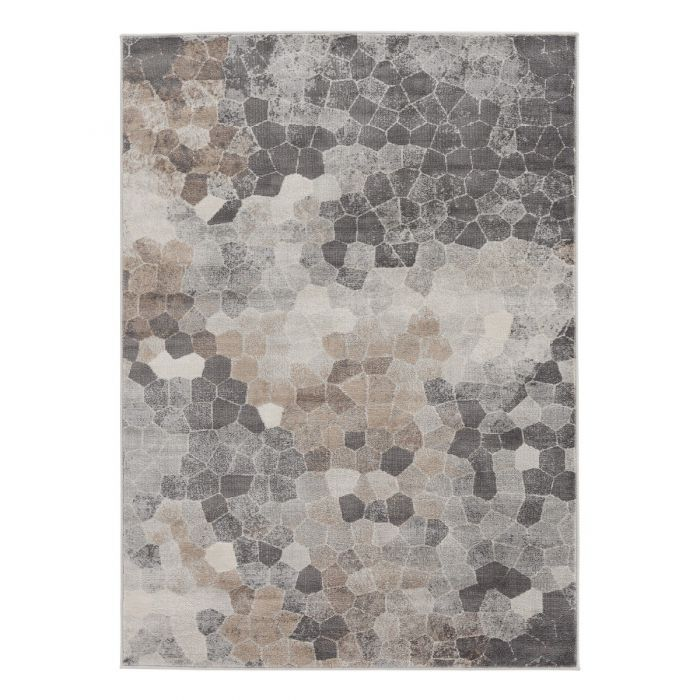Living Room Rug Abstract Design in Brown