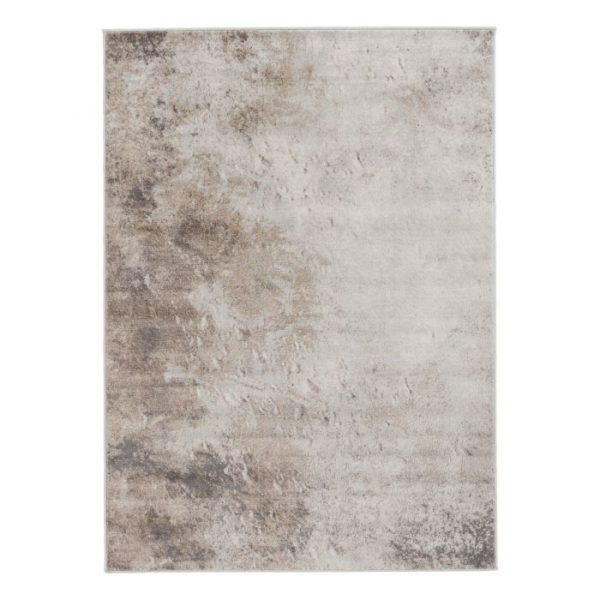 Abstract Design Living Room Rug in Brown