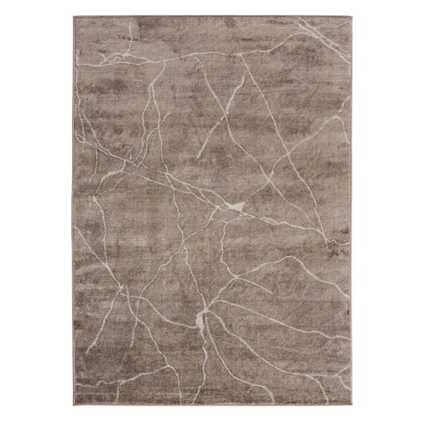 Abstract Design Modern Living Room Rug in Brown