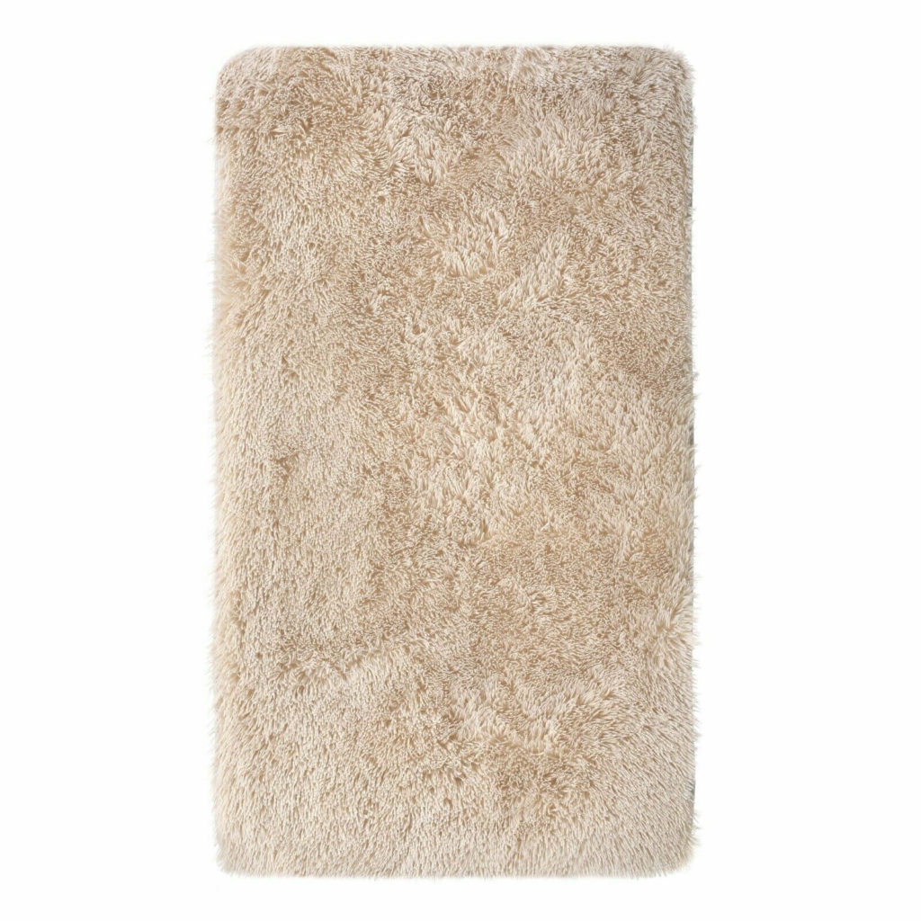 Washable Soft Shaggy Area Rug in Beige