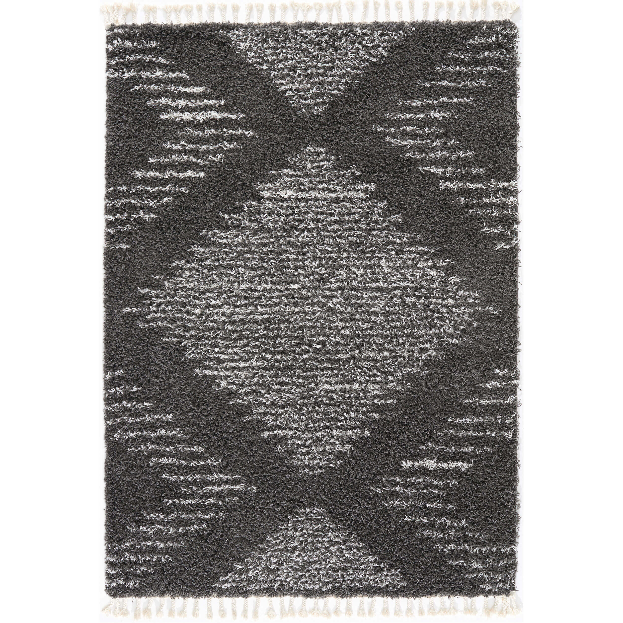 Grey Moroccan Shaggy Rug for Living Room
