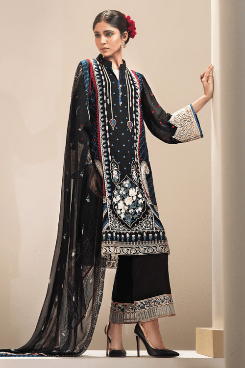 Resham Ghar Luxury Classy Pakistani Chiffon Suit RGC-06 RESTOCKED Best Sellers Restocked Best Sellers