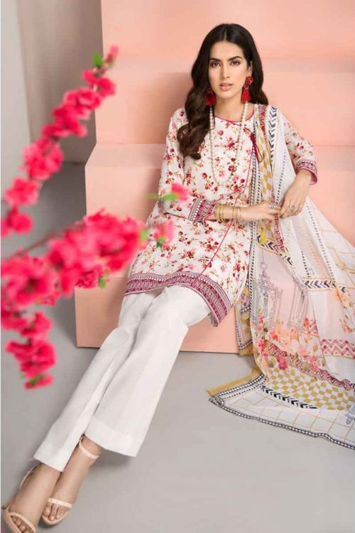 GulAhmed Mal Mal Collection 3 PC Lawn Suit BM-119 – HOT *Hot on Sale* Best Sellers