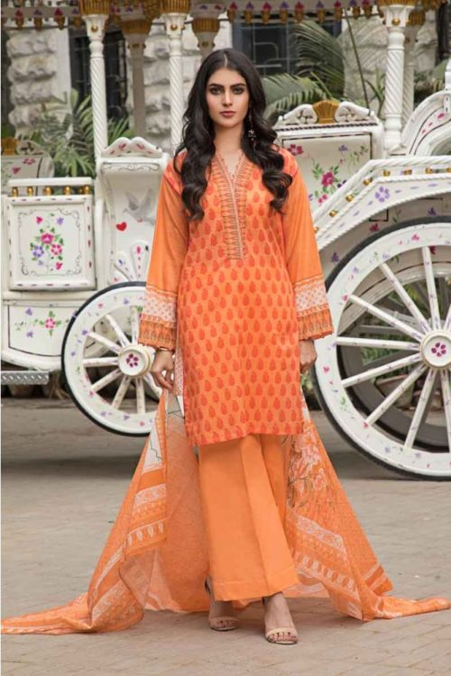 GulAhmed Mal Mal Collection 3 PC Lawn Suit CL-497 A – HOT Gul Ahmed best pakistani suits collection