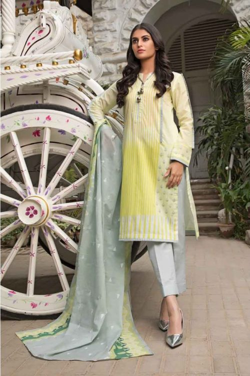 GulAhmed Mal Mal Collection 3 PC Lawn Suit CL-524 A – HOT GulAhmed Limited Edition Malmal Collection - Original best pakistani suits collection