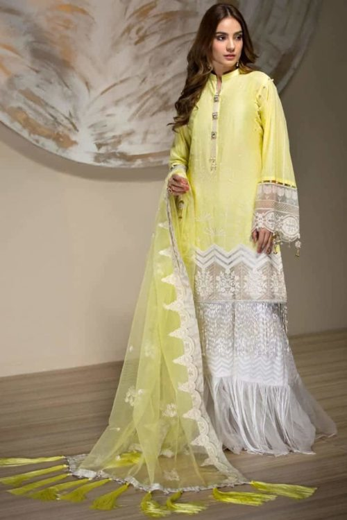 Mahapara Khan Yes Lawn 2019 – Yellow Color Salwar Suit – FSTN HOT *Hot on Sale* Best Sellers