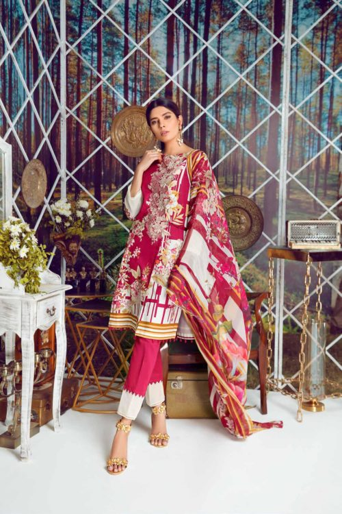 Firdous Virasat Summer Lawn 19102 A RESTOCKED Firdous Virasat Summer Lawn - Original best pakistani suits collection