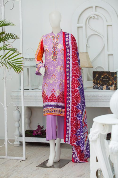 Bin Saeed Lawn Embroidered Bin Saeed Lawn Embroidered - Box Packing - Original best pakistani suits collection