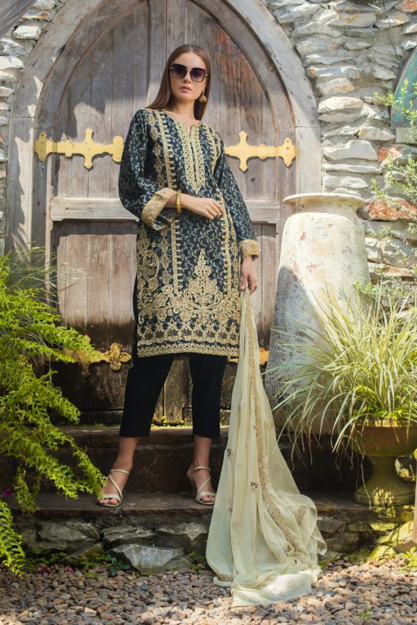 Jaipur Jacquard Embroidered by ZS Textiles JJ-8 Jaipur Jacquard Embroidered by ZS Textiles - Original pakistani suits in delhi