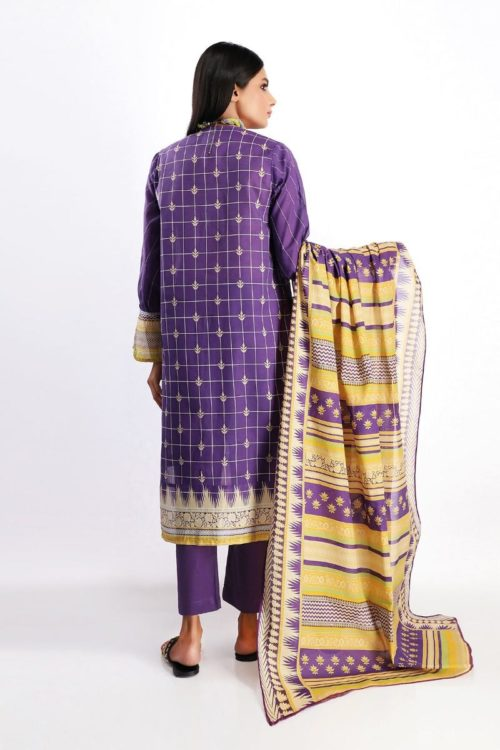 Khaadi Spring Summer 2020 Lawn Suit  – A20110-Blue-3Pc Khaadi Spring Summer 2020 Lawn - Original [tag]