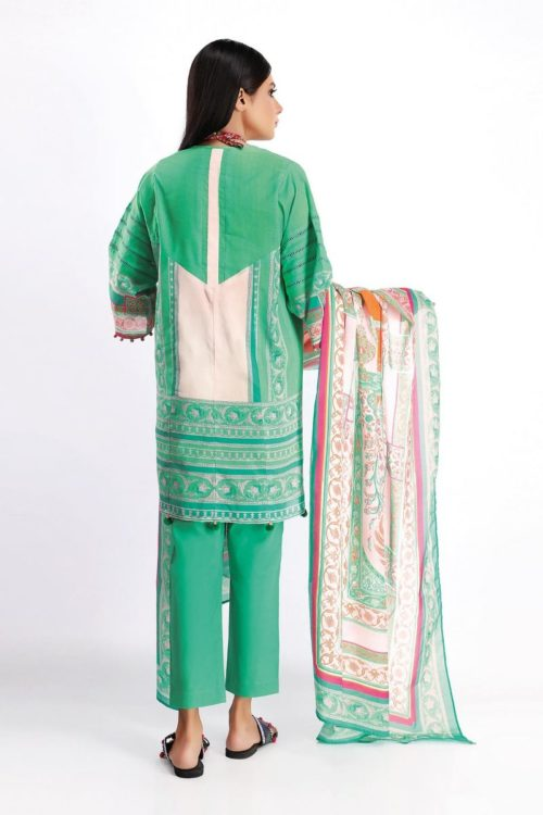 Khaadi Spring Summer 2020 Lawn Suit  – A20125-Green-3Pc Khaadi Spring Summer 2020 Lawn - Original [tag]