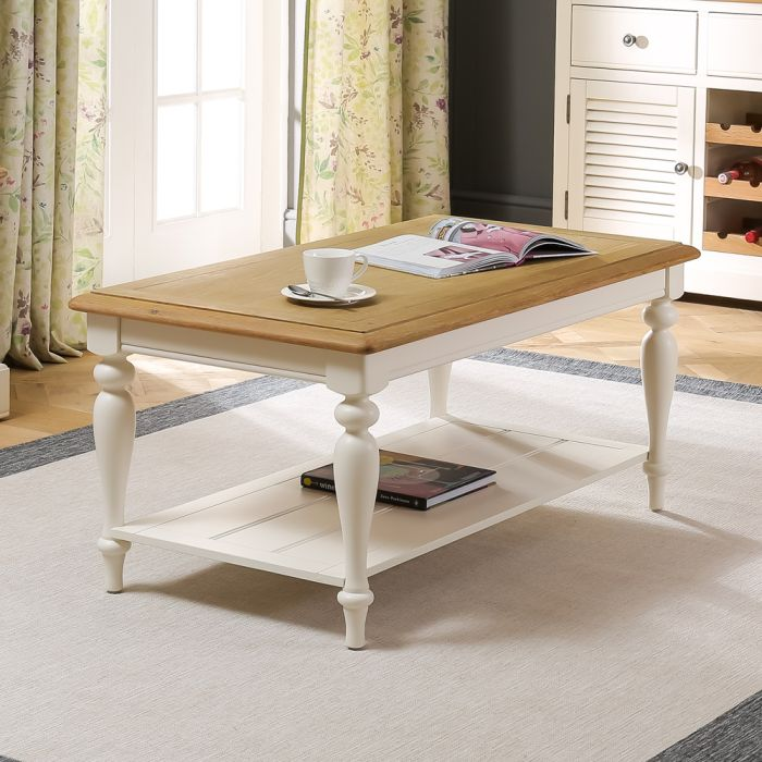 Chatsworth Cream Painted Coffee Table With Shelf The Furniture