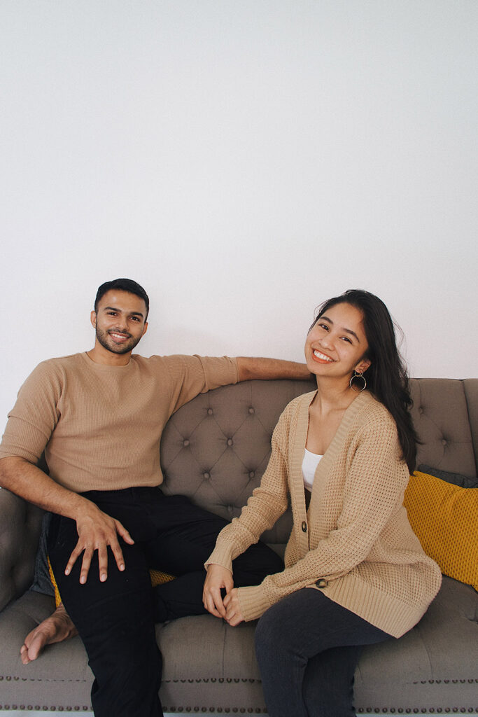 Safeel and Qistina, co-owners of Seriously Hummus