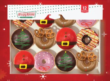 Krispy Kreme doughnuts for Christmas