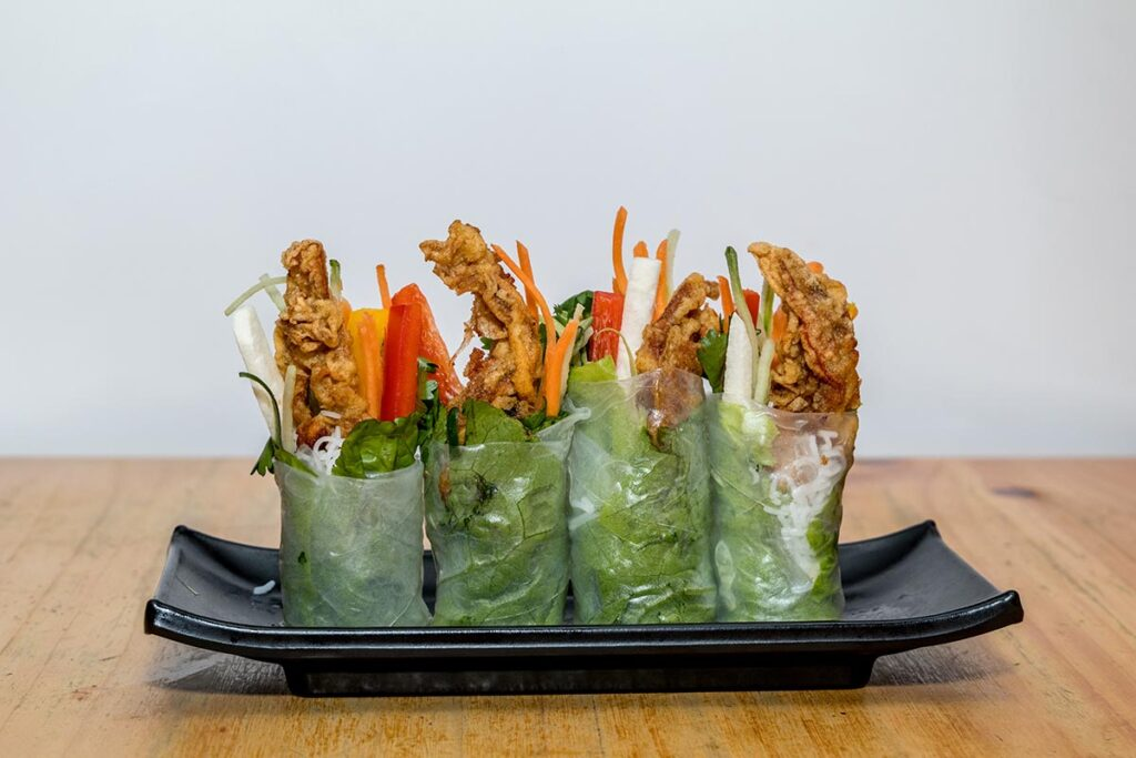 Summer roll with soft shell crab