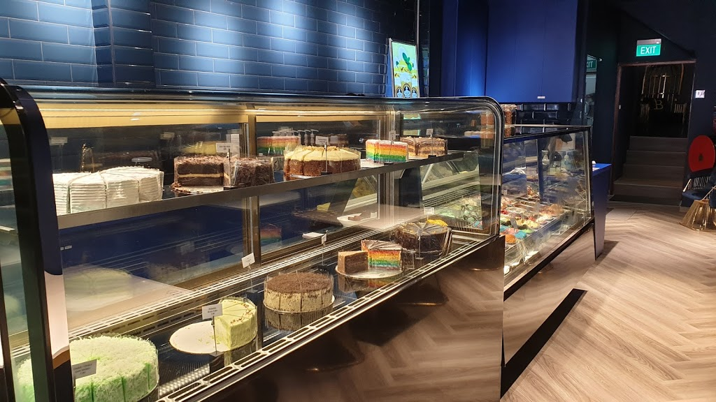 Cake display case at Bachelor Brothers