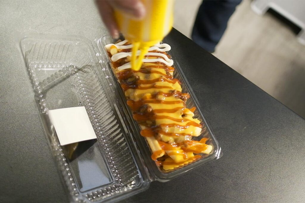 beef chilli fries from Perghh