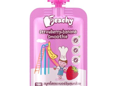 peachy baby food puree smoothie