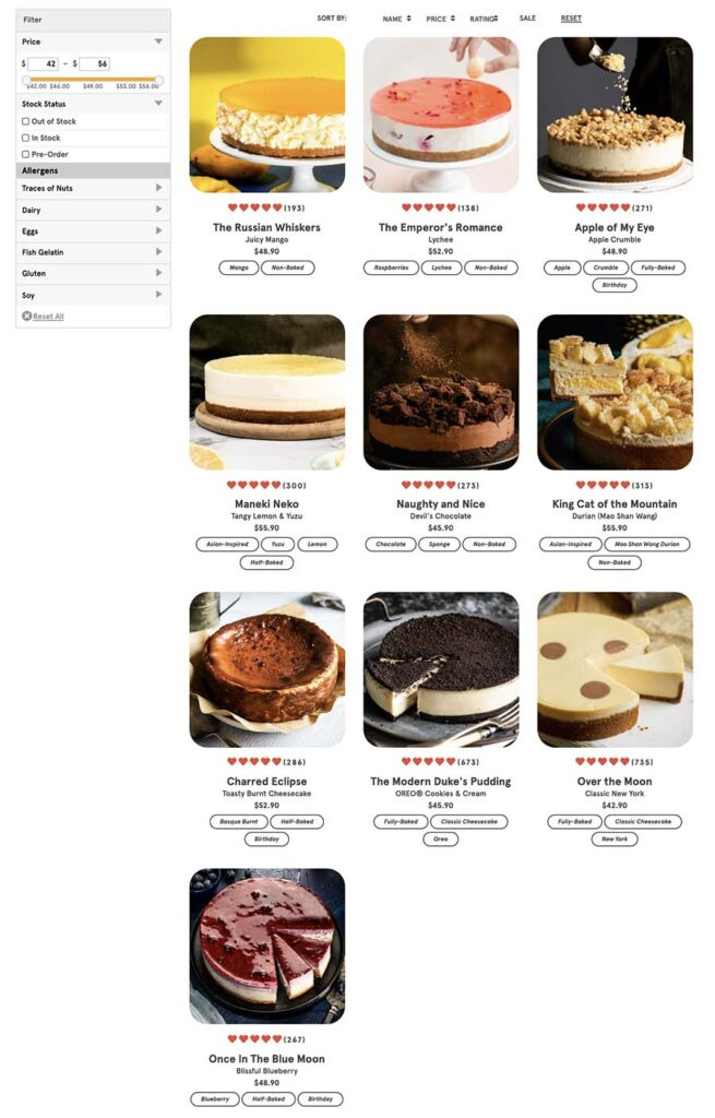 Cat & the Fiddle top 10 cheesecakes