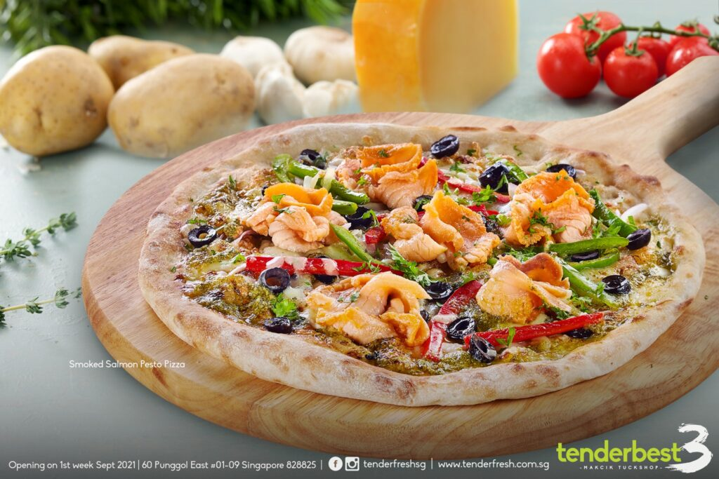 Pizza, new menu at the cafe