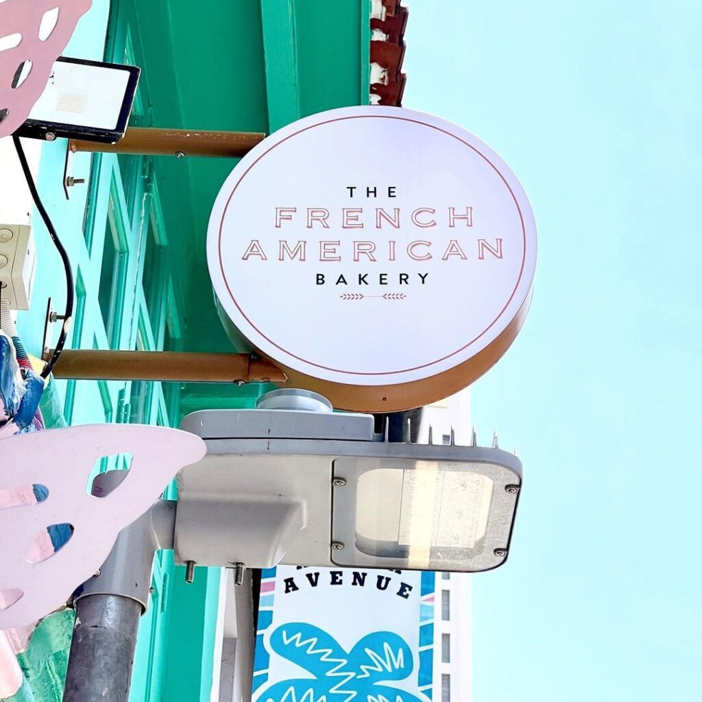 The French American Bakery signage