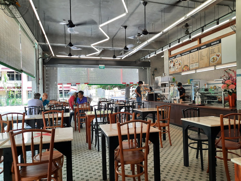 The eatery's seating area