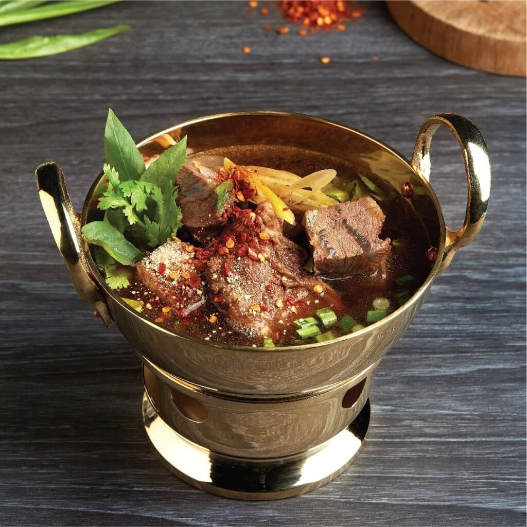 Isan Beef Clear Soup with Thai Herbs