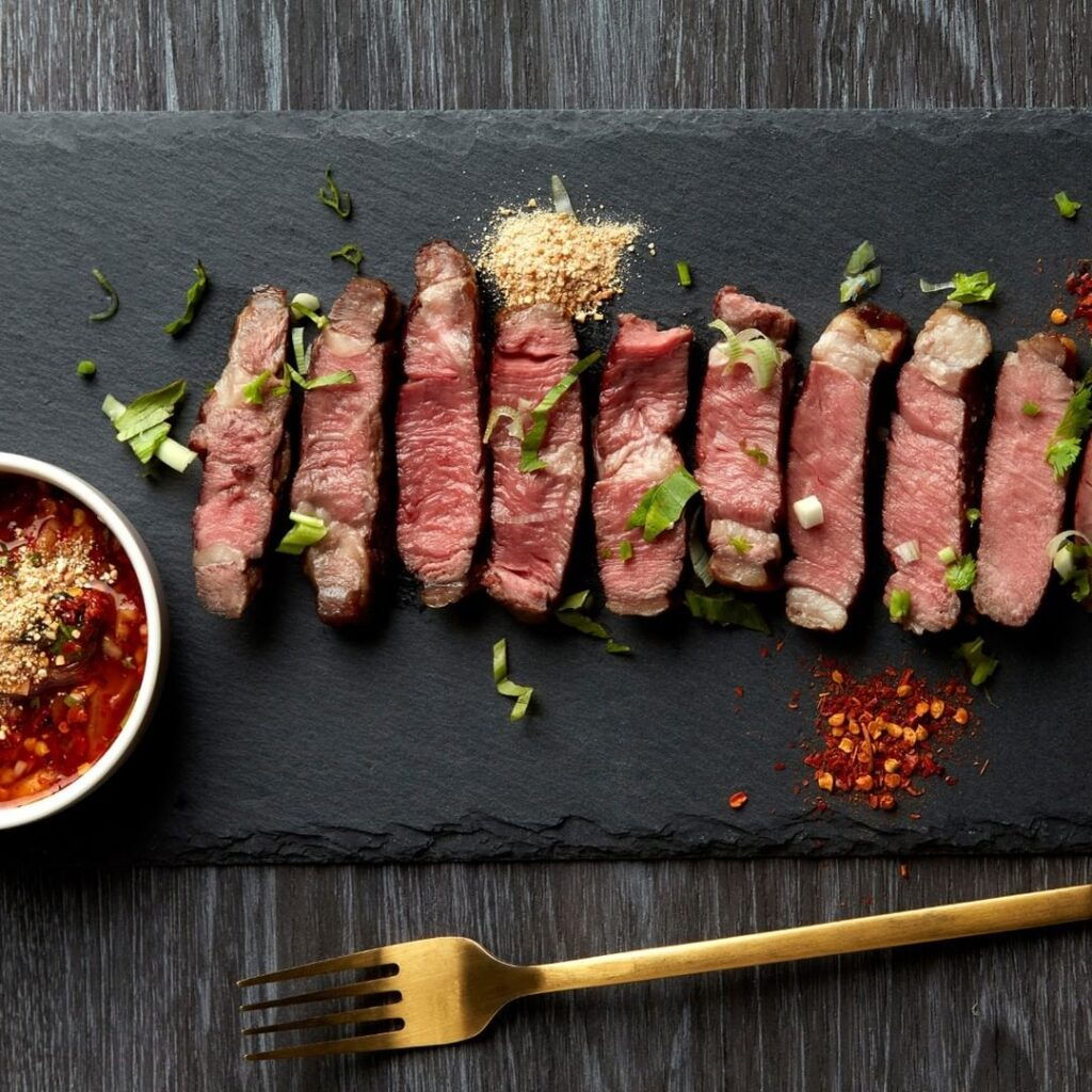 Isan Grilled Black Angus Beef with Spicy Thai BBQ Sauce