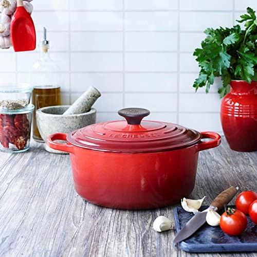 Le Creuset Cast Iron Round French Oven in kitchen
