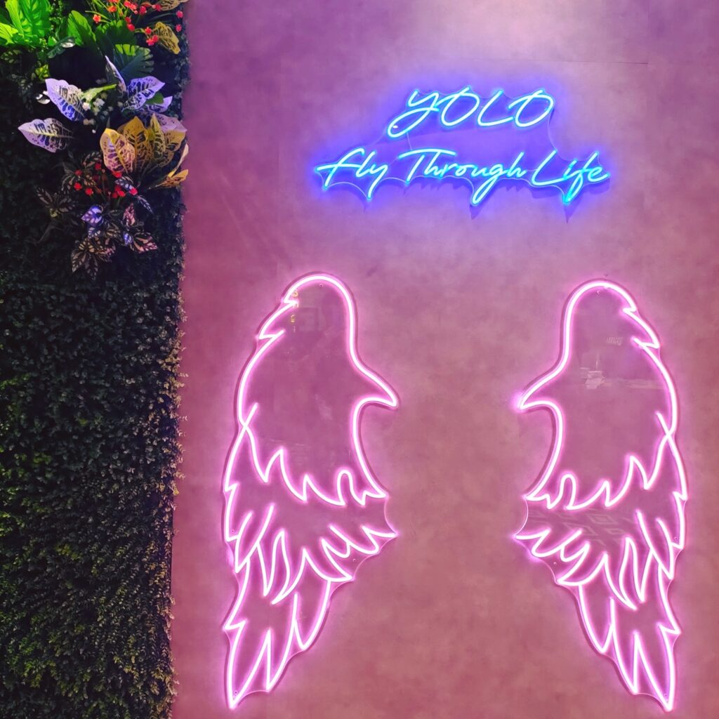 Neon wing signs