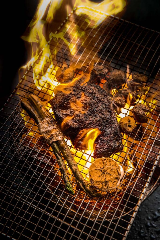 The Social Outcast woodfire smoked charcoal grilled Steak