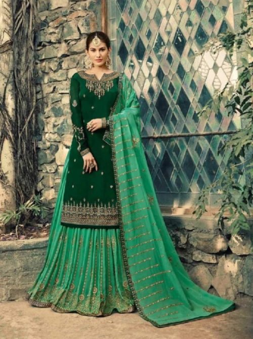 Glossy-Neisha-Satin-Georgette-With-Self-Embroidery-and-Work-Sharara-Suits-5041-764×1024