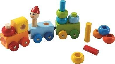 Haba wooden stacking train toy