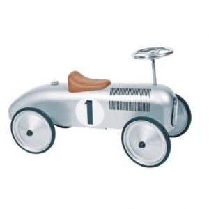 Silver Classic Racer Metal Ride on Car
