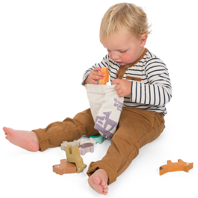 PL087 Forest Stacker Tower & Bag by Le Toy Van  001