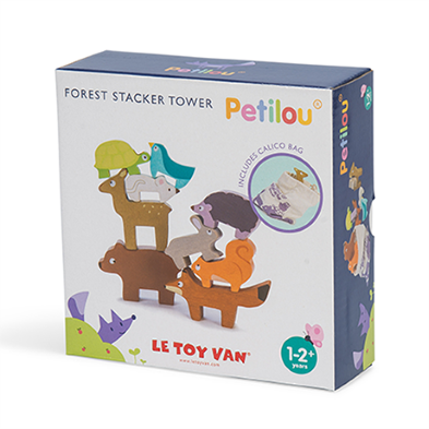 PL087 Forest Stacker Tower & Bag by Le Toy Van  002