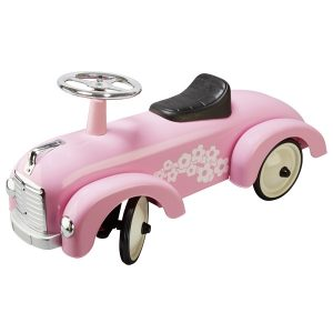 Pink Classic Metal Ride on Car