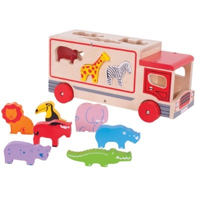 Toy Truck with Wooden Animals