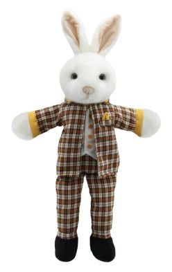 mr rabbit hand puppet by the puppet company