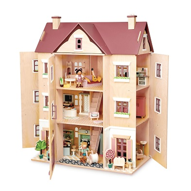 fantail hall dolls house by tender leaf toys