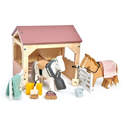 tender leaf toys the stables toy horse stable