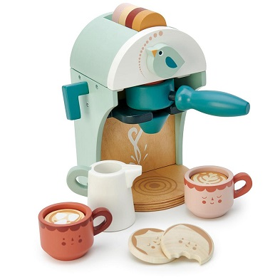 toy coffee machine babyccino maker by tender leaf toys