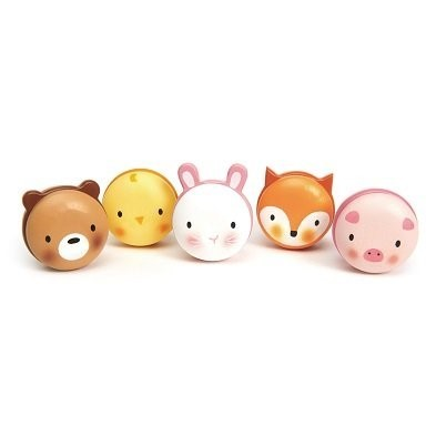 wooden animal macarons by Tender Leaf Toys