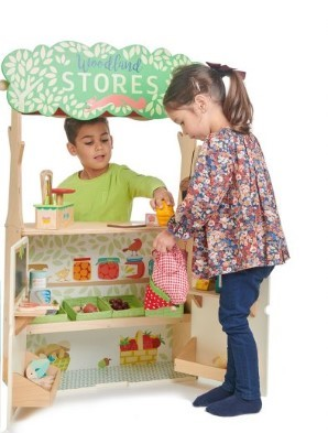 woodland stores and theatre by tender leaf toys
