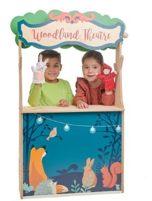 woodland stores and theatre by tender leaf toys kids in theatre
