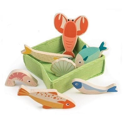 fish toys tender leaf toys fish crate tl8272
